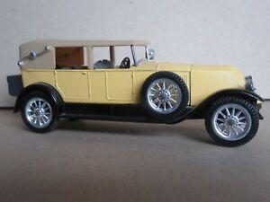 992Q 1967'S Solido 149 Age d'or France Renault 40 CV 1926 Jaune 1:43