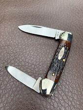 1972 Case XX Canoe Knife 62131 Pretty Bone Handles 9 Dots Unused Vintage Old USA