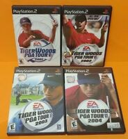 Tiger Woods Golf 2001 2002 2003 2004 - PS2 Playstation 2 Game Lot Complete Works