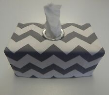 Grey Chevron Tissue Box Cover With Circle Opening -Lovely Gift Idea Nursery Home