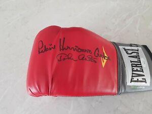 Rubin Hurricane Carter & John Artis Signed Red Everlast Boxing Glove JSA