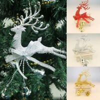 Christmas Tree Ornament Deer Chital Hanging Xmas Baubles Home Party Decorations