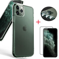 For iPhone 11, 11 Pro, 11 Pro Max Case | Clear Cover Shockproof+Screen Protector