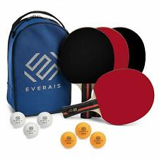 Ping Pong Paddle 4 Pro Table Tennis Racket Set 6 Professional Balls Bats with Pr