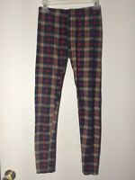 No Boundaries  Red Plaid  Ankle Leggings Size Small (3-5) New Without Tags