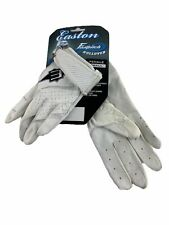 New listing Easton Fastpitch Rollover White Softball Batting Gloves Size Small
