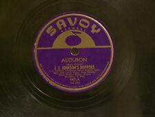 "STAN GETZ Fast J.J. JOHNSON Audubon SONNY ROLLINS Shadow Wilson Savoy 10"" 78"