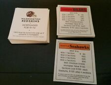 NFL Monopoly Replacement Property Cards Set - 1998 Football Cards Teams