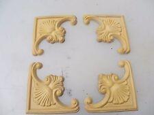 Faux Carved Wood Furniture Ormolu Decorative Hardware Wooden x4 Shell Fan Scroll