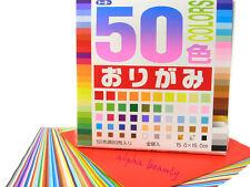 Japanese Origami Paper - 50 Colors 60 Sheets 15cm (Bonus Gold & Silver) Japan