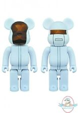 Daft Punk 400% Bearbrick 2 pack White Suits Version Medicom