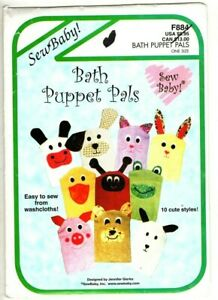 Sew Baby! Bath Puppet Pals - Sew from Washcloths - Uncut Sewing Pattern