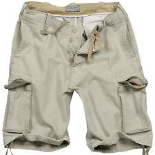 Pantalones cortos de hombre Beige 100% algodón