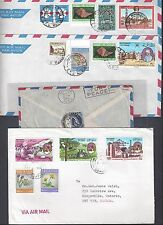 OMAN 1970 80's COLLECTION OF 10 COMMERCIAL COVER VARIOUS FRANKINGS INCLUDING MUS