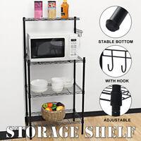 4 Tier Microwave Storage Shelf Holder Rack Organizer  Kitchen Bathroom Shower U