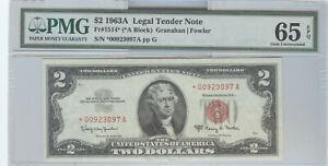 SERIES 1963-A $2 LEGAL TENDER STAR NOTE