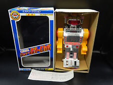 1984 vintage Yonezawa Japan LAUGHING ROBOT silver battery operated space toy BOX