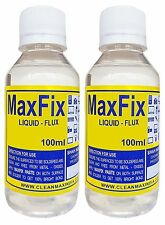 MAXFIX LIQUID FLUX (Pack of 2) -100ml Soldering electric & electronic components