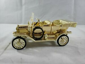 Diecast -1/32 National Motor Museum 1910 Ford Model T Gold Lizzic Tin RARE