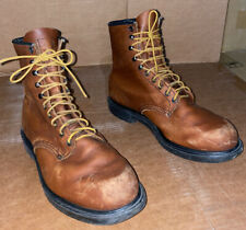 RED WING Mens Round Toe 6 inch Ankle Work Boots, Brown USA Size 12/ Brown