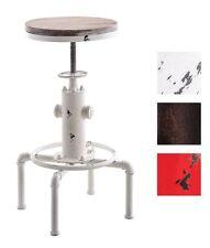 Industrial Bar Stool Swivel Vintage Cafe Chair Height Adjustable Metal Design