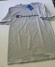 "Champion ""classic script logo"" T shirt, gray, select sizes XL &2XL"