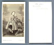 Levitsky, Paris, Mademoiselle Jeanne Fournier  CDV vintage albumen carte de visi