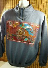 Bulurru Pullover Womens Sweatshirt Zipper Australian Aboriginal Art Pullover Med