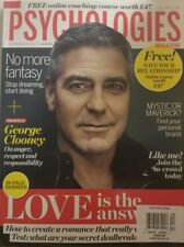 Psychologies Magazine Dec 2017 George Clooney On Anger Respect FREE SHIPPING mc