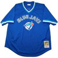 Mitchell Ness Men's 2XL Blue Toronto Blue Jays Roberto Alomar 1993 BP Jersey