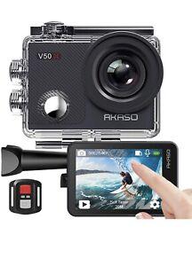AKASO V50 X Action Camera, Native 4K Wifi Underwater 40M EIS Anti-Shake Cam with