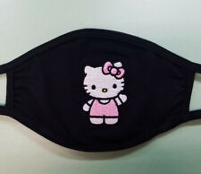 Hello Kitty Black Reusable Embroider Great Quality