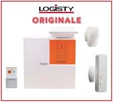 KIT Sistema impianto allarme antifurto NO-FILI PROFESSIONALE GARANTITO Logisty