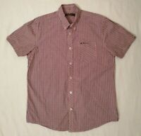 Ben Sherman Mens Short Sleeve Check Shirt Chest Pocket Embroidered Logo Size L