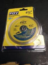 "Foy 143510 Diamond Disc 4 1/2"" continuos cut"