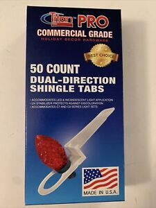 50 Holiday String C7 & C9 Light Bulb Clips Commercial Grade Roof Shingle Tabs