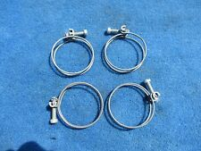 """Vintage Original Wire Band Screw 2"""" Hose Clamps NOS Set of 4 Made in Chicago ."""