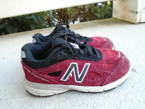 Kids New Balance 990  red  running shoes infant/toddler/boys sizes 8