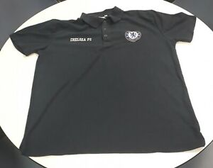 Official Chelsea FC Polo Shirt Navy Mens Large