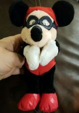 """Vintage Disney Swim Suit With Goggles Stuffed Mickey Mouse Red 9"""" Beanie"""