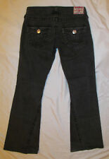 TRUE RELIGION  JOEY BIG T faded black  twisted seam flare stretchy jeans 28