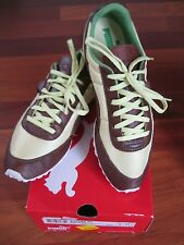 AUTHENTIC PUMA ATHLETIC SHOES SIZE 8 NEIMAN MARCUS IN BOX LIME BROWN COLOR