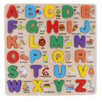 Holz Alphabet Buchstaben Full Puzzle Kinder Lernspielzeug Lernen Puzzle