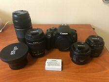 Canon EOS Rebel T5i LOT with Canon 50mm f1.8, Canon 18-55mm AND MORE