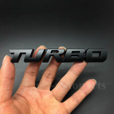 Matte Black Metal Turbo Emblem Rear Trunk Tailgate Decal Sticker Badge Emblems