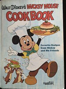 Walt Disney's Mickey Mouse Cookbook 1975 Vintage Golden Book