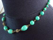 ~ BELLISSIMA VINTAGE ANTICO Ceco PECHINO perla di vetro Collana con Maker's Mark