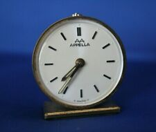 Vintage Apella Swiss Travel Alarm Clock / Switzerland Brev Dem / U.S. Seller