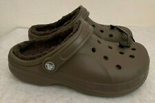 NWT Crocs Winter Faux Shearling Lined Clog WALNUT/ESPRESSO Size: US 7