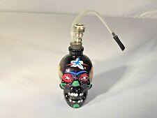 Glass Water Pipe Painted Skull Bong Smoking Pipes US Seller Black